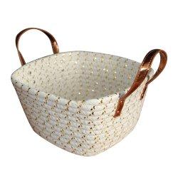100% de la cuerda de algodón hechas a mano el depósito de almacenamiento/almacenamiento/Cesta de la caja de almacenamiento de artículos