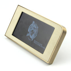 De 7 pulgadas de alto nivel Ad multifunción del REPRODUCTOR DE HD LCD Digital Photo Frame Relojes de oro Video Media Player para la promoción empresarial