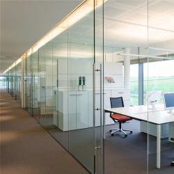 نظام الجدار الزجاجي سعر التقسيم الداخلي مع إطار من الألومنيوم الباب بدون إطار الطي المنزلق القابل للطي منقولة إلى الأمام