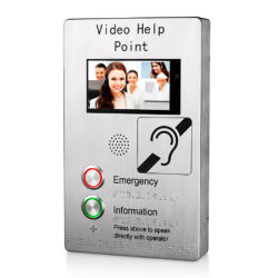 كاميرا فيديو IP VoIP HD TFT Emergency SIP Intercom Metro