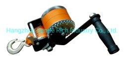 600lbs/272kgs 수동 손 윈치, ATV 차 배 트레일러를 위한 50mm*6m 폴리에스테 결박을%s 가진 수동 크랜크 결박 기어 윈치