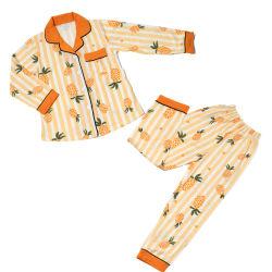 新しい販売の偶然のHomewearの通気性のたくわえはセットされる一定のパジャマに着せているサイズの美しい女の子のハンサムな男の子のパジャマの女の子の漫画のPijamasのより多くの子供を暖める
