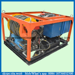 Motor diesel de limpieza de tuberías de drenaje de aguas residuales de pulverización de agua de alta presión de la máquina de limpieza