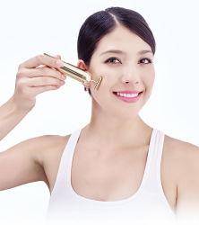 Les produits de beauté pour les femmes font face à l'or vibration minceur faciale 24K Mini Massage facial beauté Stick
