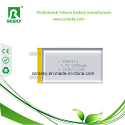 力バンクのための5000mAh 5565113 3.7V再充電可能なLipoの電池