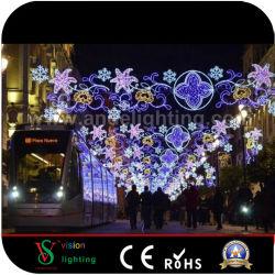 クリスマスLEDのモチーフの街灯ロープライト