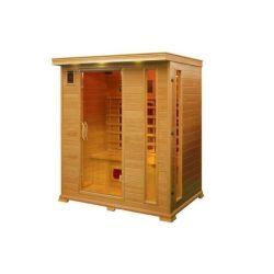 Infrarrojo Lejano de madera de 4 personas en exteriores o interiores saunas