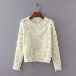 女性の多彩なプルオーバーのための新しい編むファブリックデザインセーター