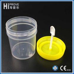 желтый контейнер фекалий крышки винта 60ml пластичный