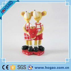 L'amour de la souris Polyresin cartoon mariage Figurine comme cadeaux