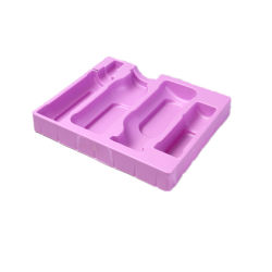 PS colorido de plástico para Cosmética blíster flocado materiales