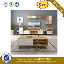 Sala de estar moderna mobília em madeira de melamina mesa de café armário TV (UL-9SER242)