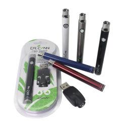 Batterie VV de préchauffage CBD Twist 350 mAh à tension variable E Stylo à enme 510 filets et chargeur USB E-CIG EGO-T. MT3 CE4 CE5