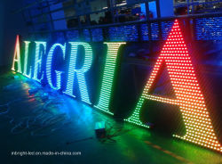 DC5V Outdoor Advertising LED Channel Letter con RGB a colori Effetto
