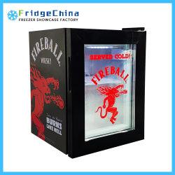 바 음료를 위한 소형 싱크대 유리제 문 전시 음료 강직한 냉각기