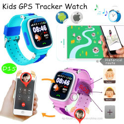 Les enfants de l'écran tactile montre GPS tracker avec GPS+LB+WiFi (D15)