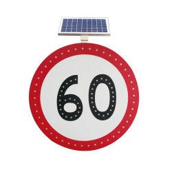 Materielle angeschaltene im Freienled-Straßen-Aluminiumsolarverkehrszeichen