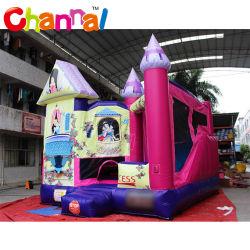 Princess Bouncer castillo inflable saltando con la diapositiva