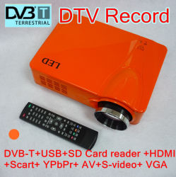 Projecteur LED HD DVB-T/ USB pour la maison (projecteur HD D9HR)