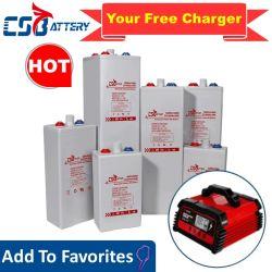 Csbattery 2V 1200 AH/1500ah/2000ah/2500ah/3000ah Opzv Gel Armazenamento Solar vassoura da bateria/Mesa Móvel/Powered-Heater/Nuclear-Power-Station/Opzs/CSL