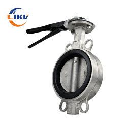 الصمام الفراشة الحديدية بأنبوب حديدي، وهو عبارة عن مكثف للخدمة الشاقة يتم التشغيل فيه كهربيًا