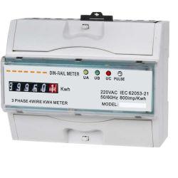 Fase três elevadores padrão Digital Medidor para calha DIN com solução AMR