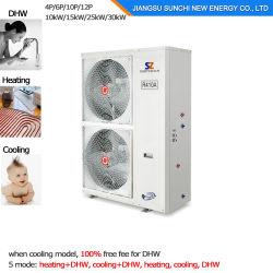 L'automobile molto fredda del tester House+Dhw 12kw/19kw/35kw del riscaldamento 120sq del radiatore di inverno Ceco/del Belgio -25c disgela la pompa termica dell'acqua dell'aria Evi