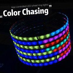 """Kit dell'indicatore luminoso della rotella dell'adattamento di colore di Milion per 15 """" indicatori luminosi automatici fuori strada delle rotelle LED con l'indicatore luminoso di sincronizzazione per accelerare inseguimento di colore di supporto"""