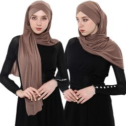 Hijab 스카프의 100% 폴리에스테르 보일리, 회교식 헤드 패션 하이잽