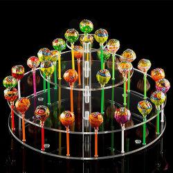 Custom Clear акриловый круглый пирог Lollipop Plexiglass/Lollypop/Lolly/Bonbon/фрукты Memory Stick держатель дисплея/подставки