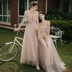 Uma linha de Pink Vestido de Fiesta muito elegante Bridesmaids vestir