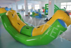 Novo Design de brinquedos de água colorida PVC personalizada almofada insuflável do parque de diversões de deslize
