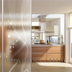 زجاج ثليج ثليج بطول 3 مم - 12 مم / زجاج محفور مع شهادة CE