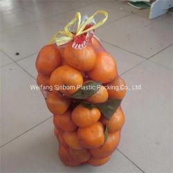 HDPE Einzelheizfaden-Gemüseverpackungs-Nettobeutel für Apfel-Zwiebelen-Aubergine