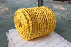 PP Danline Rope 8 لون أصفر من البولي بروبلين على الحبل للتلوين البحري أو السحب