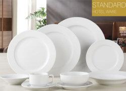 Espessura redonda branca de alta qualidade Novo Jantar Bone China Ware para Hotel utilizado