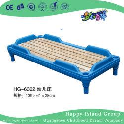 Het houten Draagbare Bed van de School van de Kleuterschool met Plastic Frame voor Verkoop (Hg-6302)