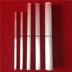 Blanc laiteux Tube de quartz opaque en silice fondue chauffage tube Bush