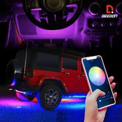 Controlado ou smartphone 12 Volts Kit de Luz de LED com cor perseguindo o reequipamento do Kit de Luz Ambiente a sincronização de música de iluminação LED