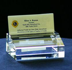 Cristal clair (sulfure de verre avec gravure) pour le titulaire de la carte d'entreprise standard