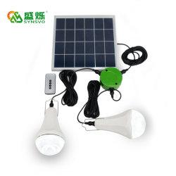 ホーム太陽ライトキット遠隔コントローラが付いている携帯用太陽LEDの緊急時ランプ