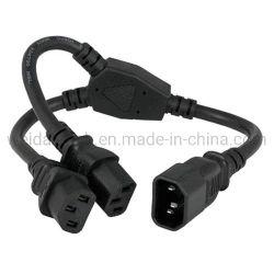 1xc14 à 2 x Câble d'alimentation doubleur de gamme C13