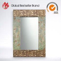 Pintado a mano Flor de arte antiguo de la pared de la imagen del espejo de marco (LH-M170714)