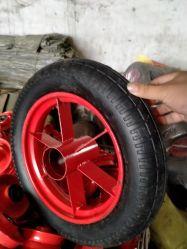 300-10 sólido de goma de caucho multicolor de la rueda rueda aire