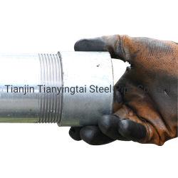 Углеродистая сталь ВПВ сварной оцинкованной стали резьбу топливопровода с соединительной муфты