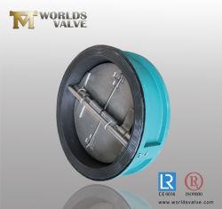 Gas acqua rivestimento rivestimento in gomma rivestito in gomma ISO5752 per controllo industriale Valvole di ritegno a farfalla Duo a doppio sportello a wafer Da Tianjin Worlds Valve Cina