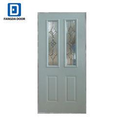 8 Fangda Aço do painel de porta interior de vidro fosco