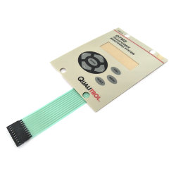 Bouton poussoir Pet personnalisé gaufré interrupteur du clavier à membrane de métal