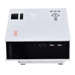 ホームシアターのためのUnic UC40+ LEDプロジェクターHDマルチメディアインターフェイス800lms 3D小型Pico携帯用プロジェクター