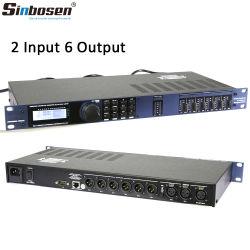 Dxb260 2は6つの出力されたDSPデジタルの効果音の音声プロセッサを入れた